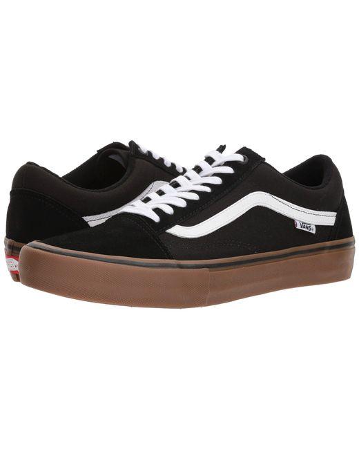 9e8d76cd36ae Vans - Black Old Skool Pro (rumba Red true White) Men s Skate Shoes ...