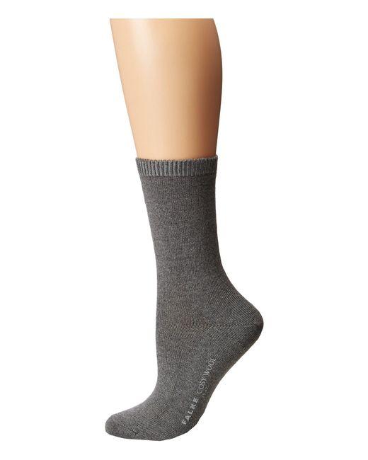 Falke - Gray Cosy Wool Sock - Lyst