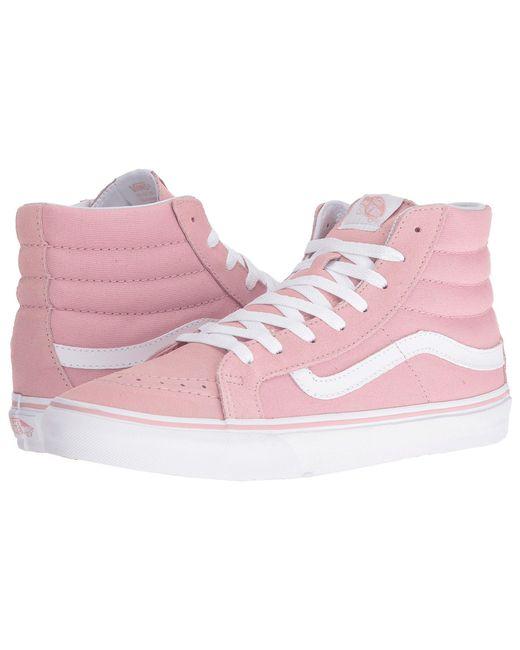 Vans - Pink Sk8-hi Slim (zephyr/true White) Skate Shoes - Lyst