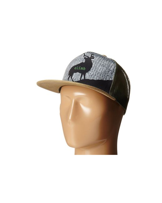 Prana - Green Journeyman Trucker (dark Khaki) Caps for Men - Lyst
