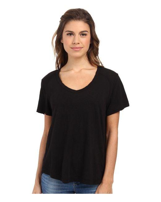 Lamade - Black Vintage Tee (white) Women's T Shirt - Lyst