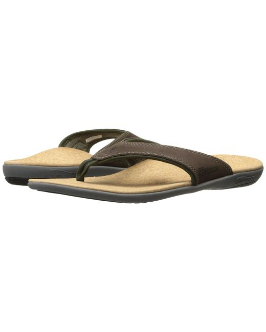 Spenco - Brown Yumi (carbon/pewter) Men's Sandals for Men - Lyst