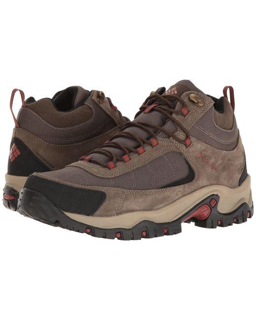 Columbia - Brown Granite Ridge Mid Waterproof (dark Grey/golden Yellow) Men's Shoes for Men - Lyst
