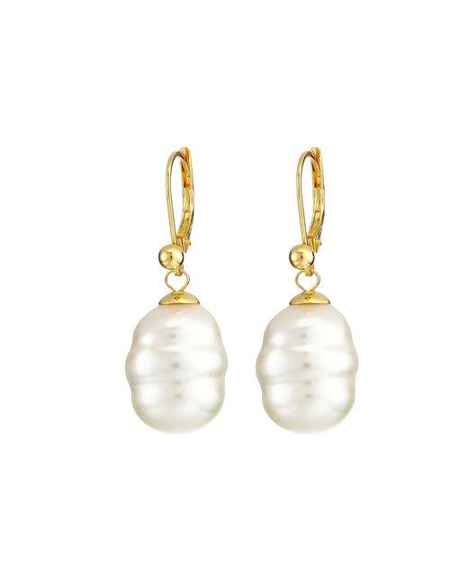 Majorica - White 12mm Baroque Pearl Drop Earrings (nuage) Earring - Lyst