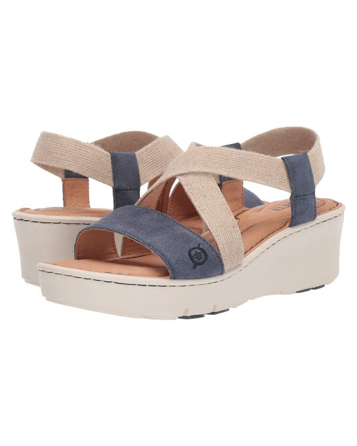c226446f912d Born - Blue Park Wedge Sandal - Lyst ...