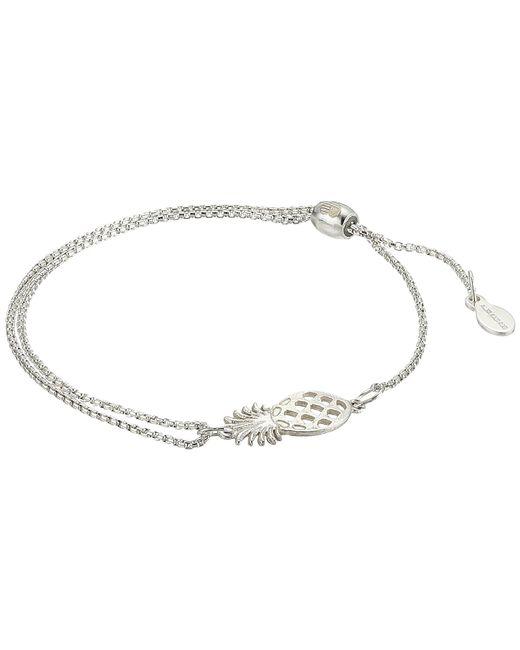 ALEX AND ANI - Metallic Pineapple Pull Chain Bracelet (sterling Silver) Bracelet - Lyst