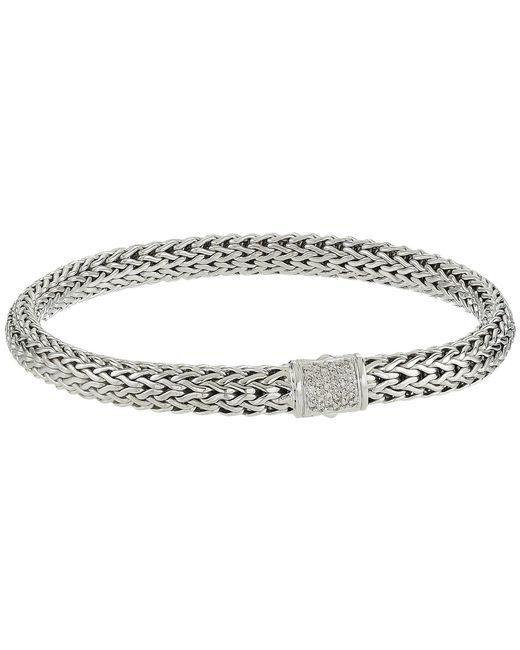 John Hardy - Metallic Classic Chain 6.5mm Bracelet With Diamonds (silver) Bracelet - Lyst