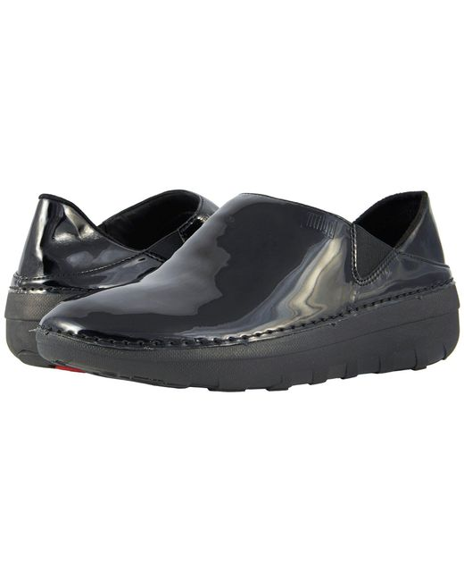 Fitflop - Superloafer Patent (black) Women's Slip On Shoes - Lyst