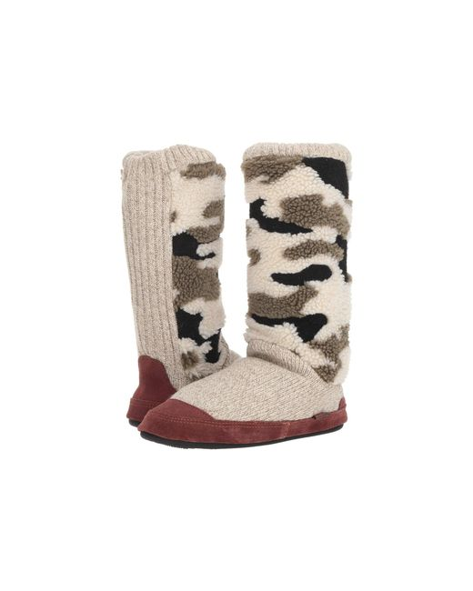 Acorn - Multicolor Slouch Boot (buff Popcorn) Women's Slippers - Lyst