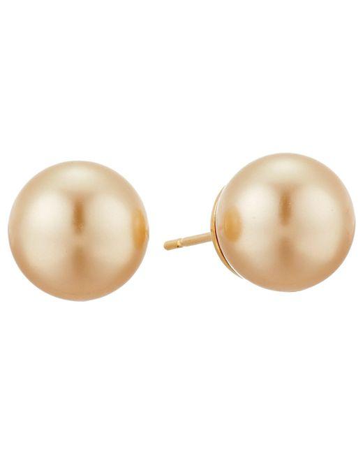 Majorica - Metallic 10mm Ss Stud Earrings (champagne) Earring - Lyst