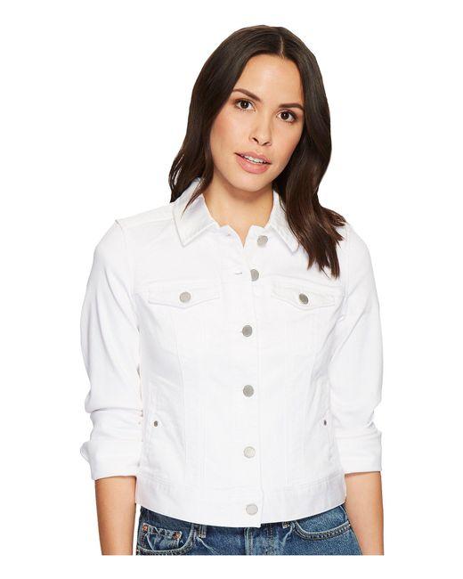 a9e7b0a84c5e3 ... Liverpool Jeans Company - Petite Classic Denim Jacket In Stretch Slub  Twill (bright White) ...