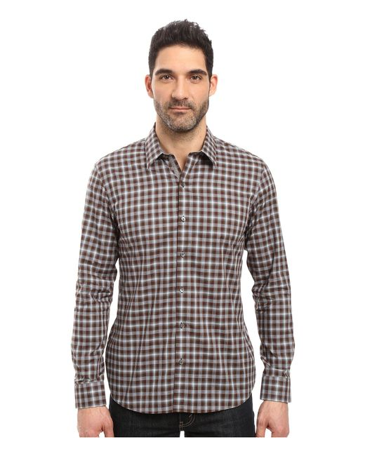 7 Diamonds | Brown One Tree Hill Long Sleeve Shirt for Men | Lyst