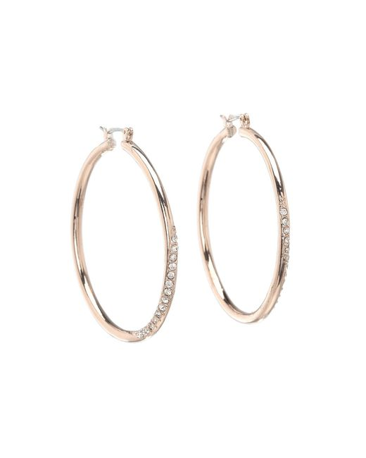 Guess - Pink Hoop With Stones - Lyst