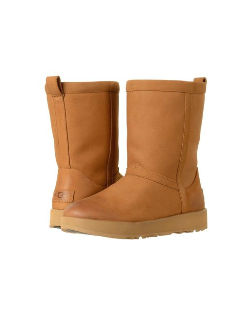 Ugg - Brown Classic Short L Waterproof (chestnut) Women's Boots ...