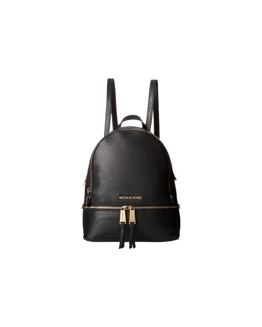 MICHAEL Michael Kors - Black Rhea Zip Medium Backpack - Lyst