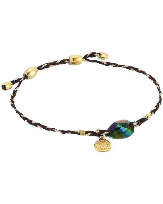 ALEX AND ANI - Metallic Precious Threads Crystal Rainbow Dark Swarovski Crystal Woodland Braid Bracelet (14kt Gold Plated) Bracelet - Lyst