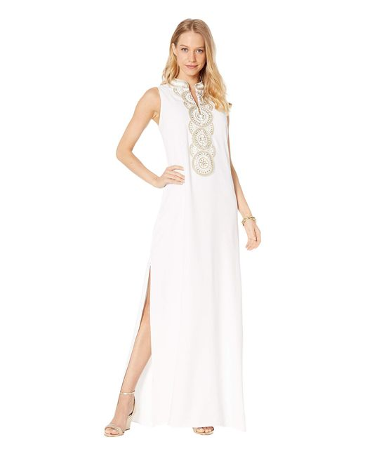 Lilly Pulitzer White Jane Maxi Dress