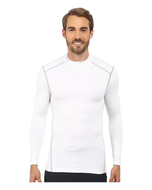 Under Armour | White Ua Coldgear® Armour® Compression Mock for Men | Lyst