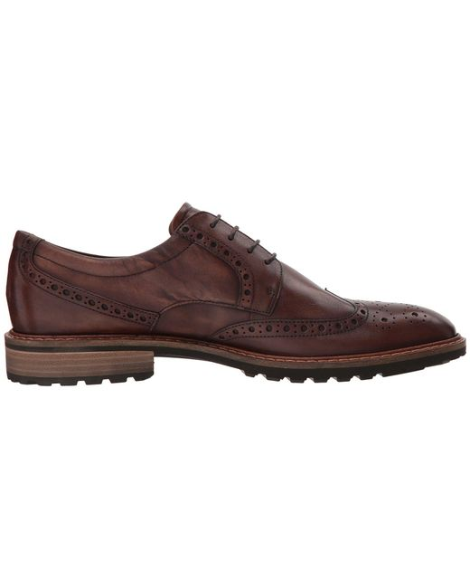 01b645fc458f ... Ecco - Brown Vitrus I Wingtip Tie (nature) Men s Lace Up Wing Tip Shoes  ...