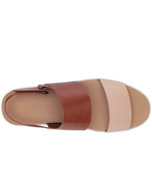 7ee3584235f2 ... Vince - Multicolor Westport (putty cognac Foulard Leather) Women s Shoes  ...