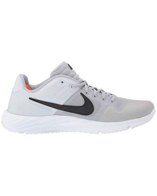 568b0499da140 ... Nike - Gray Alpha Huarache Elite 2 Turf (game Royal white gym Blue ...