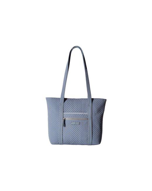 Vera Bradley - Blue Iconic Small Vera Tote (charcoal) Tote Handbags - Lyst