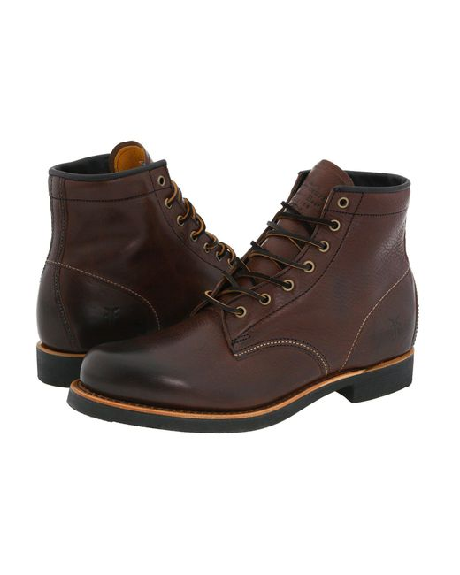 Frye - Arkansas Mid Lace (brown Oiled Suede) Men's Lace-up Boots for Men - Lyst