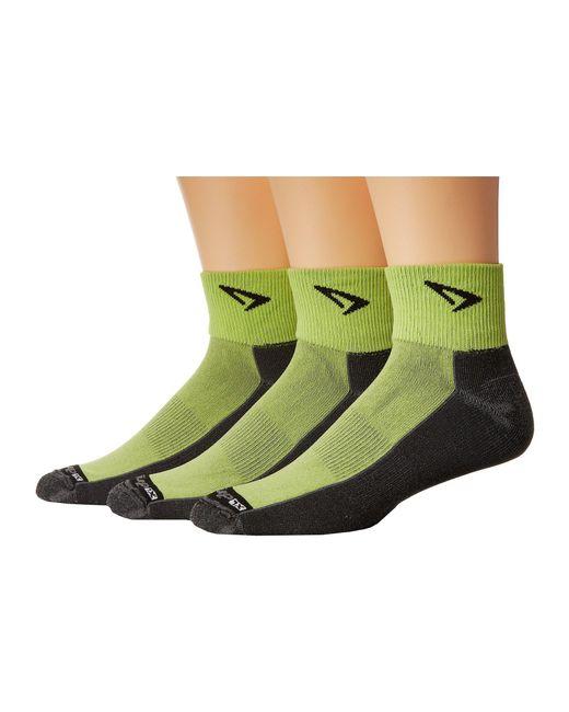 Drymax Sport - Black Lite Trail Running 1/4 Crew Turn Down 3-pair Pack (lime Green/gray) Crew Cut Socks Shoes - Lyst