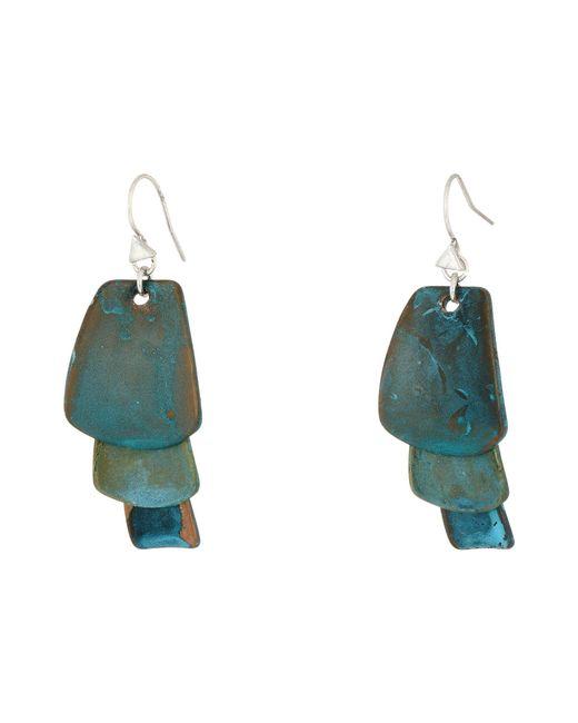 Robert Lee Morris - Patina Drop Earrings (blue/green) Earring - Lyst