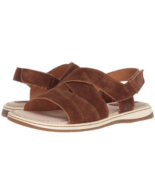 Born - Brown Shell (rust Distressed) Men's Sandals for Men - Lyst