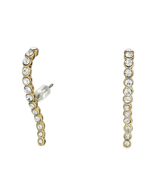 Vince Camuto - Metallic Pave Lobe Post Earrings (gold) Earring - Lyst