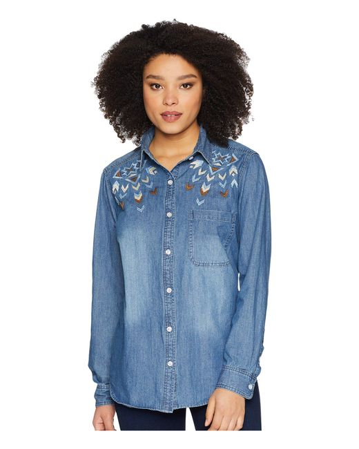 Stetson - Denim Button (blue) Women's Clothing - Lyst