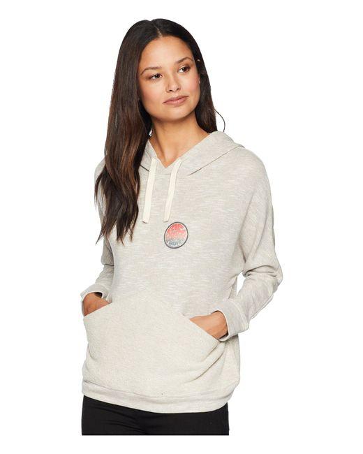 Rip Curl - Gray Low Tide Pullover Hoodie (heather Grey) Women's Sweatshirt - Lyst