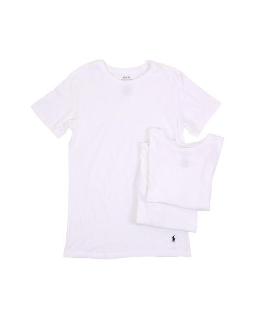 Polo Ralph Lauren - White 3-pack Slim Fit Crew for Men - Lyst
