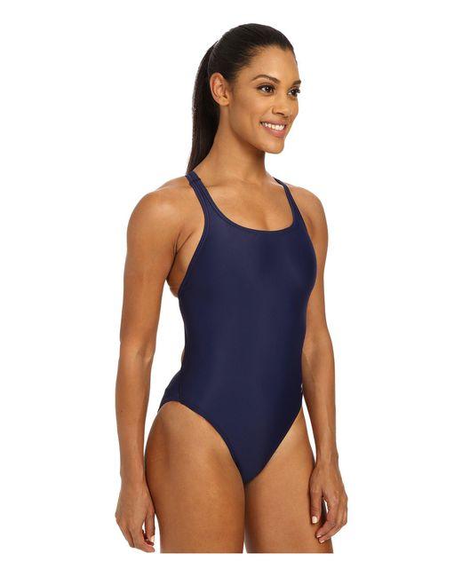 e8f7e5ff79 ... Speedo - Blue Solid Lycra(r) Superpro ( Navy) Women s Swimsuits One  Piece ...