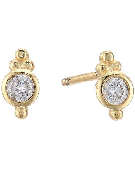 Shashi | Metallic Ballerina Stud Earrings | Lyst