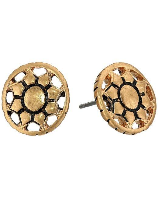 The Sak   Metallic Engraved Open Stud Earrings   Lyst
