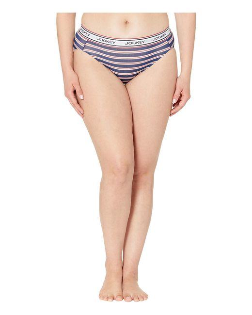05044105f6d0 Jockey - Multicolor Retro Stripe Hi Cut (stone Washed Floral) Women's  Underwear ...