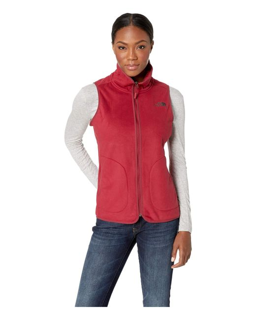 The North Face - Red Mosswood Vest (tnf Black) Women's Vest - Lyst