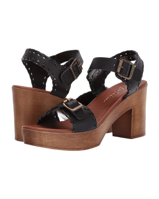 bf503c1e74b Lyst - Matisse Twiggy Wooden Heeled Sandal (black) Women s Shoes in ...