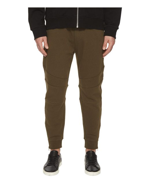 The Kooples - Green Khaki Sweatpant Bottoms With Ankle Zip Detail for Men - Lyst