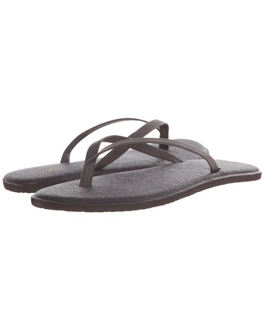 Lyst Sanuk Yoga Bliss Opal Women S Sandals In Brown