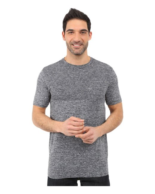 The North Face - Gray Short Sleeve Engine Crew (cosmic Blue Heather (prior Season)) Men's Short Sleeve Pullover for Men - Lyst