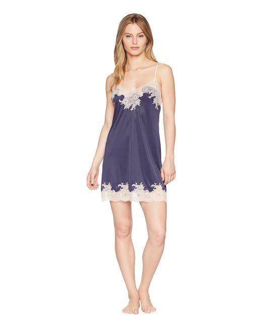 Natori - Enchant Lace Trim Chemise (night Blue/rose) Women's Pajama - Lyst