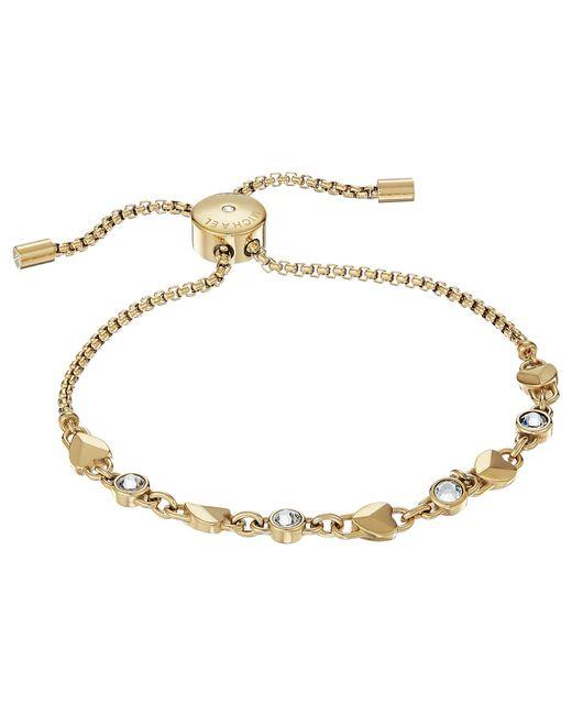 Michael Kors - Metallic Logo Love Heart Crystal Slide Bracelet - Lyst