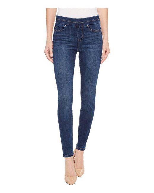 Liverpool Jeans Company - Blue Zoe Ankle Pull-on Leggings In Silky Soft Denim In Elysian Dark (elysian Dark) Women's Jeans - Lyst