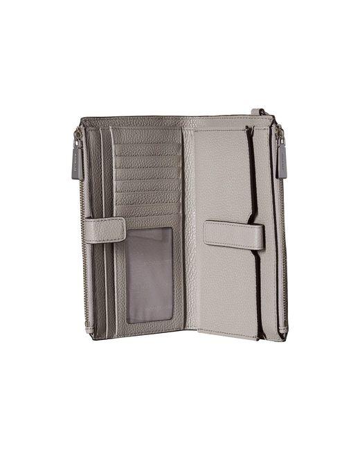 3551a504682f3 ... MICHAEL Michael Kors - Gray Double Zip Wristlet (optic White) Wristlet  Handbags - Lyst ...