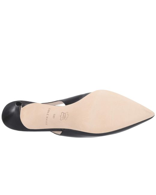 ff5b55a4be9 ... Cole Haan - Black 65 Mm Vesta Slingback (pacific Coast Leather) Women s  Shoes ...