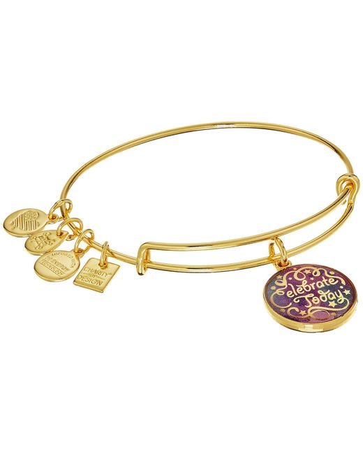 ALEX AND ANI - Metallic Charity By Design Celebrate Today - American Cancer Society Bracelet (shiny Gold Finish) Bracelet - Lyst