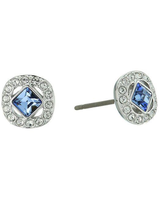 Swarovski - Blue Angelic Pierced Earrings (white 1) Earring - Lyst